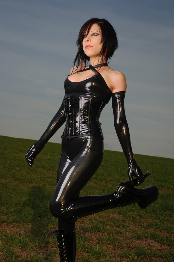 Latex fetish wearing care and